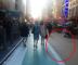 Pedestrians in the bike lane