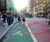 Walking in the bike lane